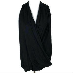 FABLETICS Women's Black Drapey V-neck Razor Back